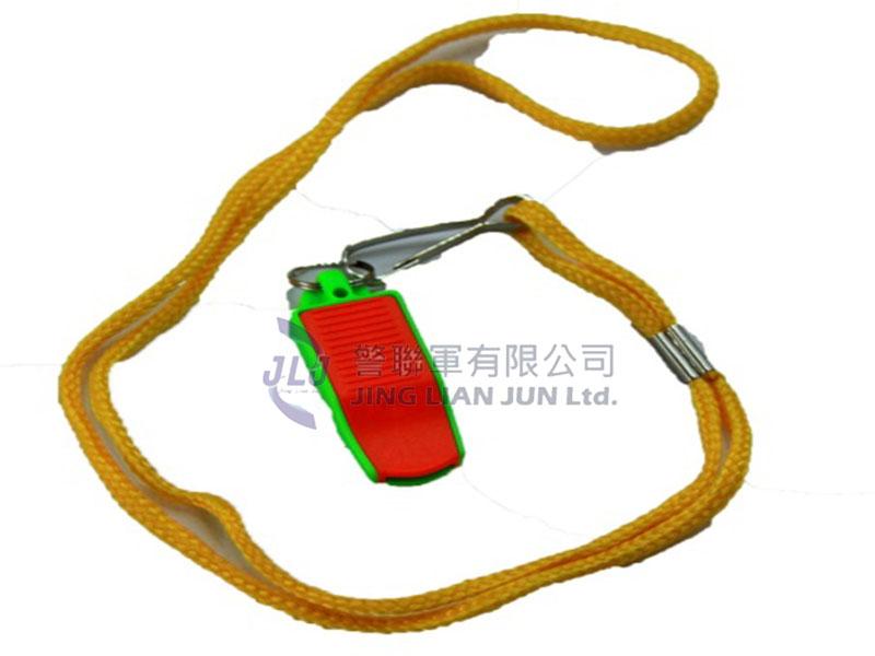 D002-4高音塑膠哨子(雙色)