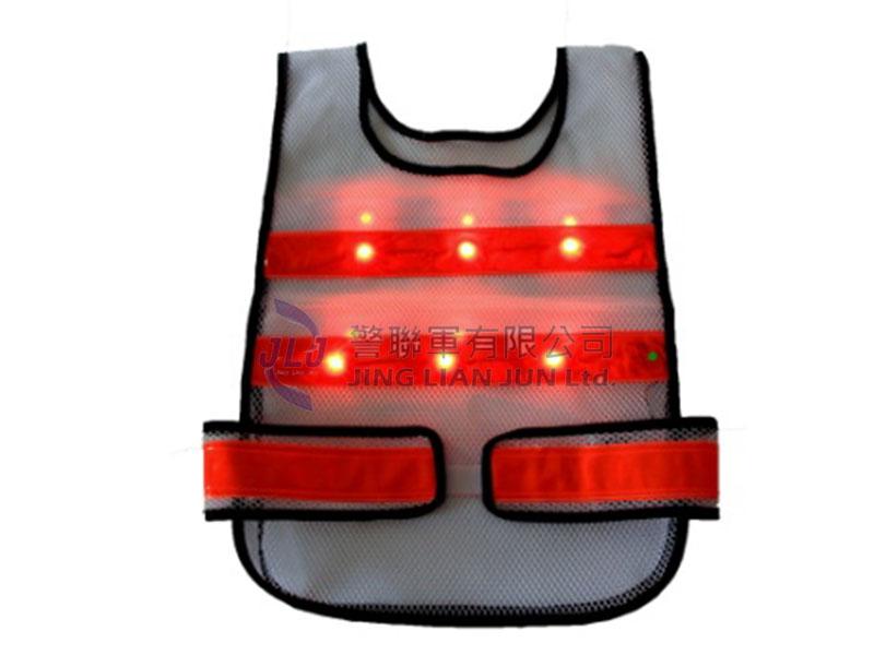 A001-11 LED反光背心(螢光紅色)
