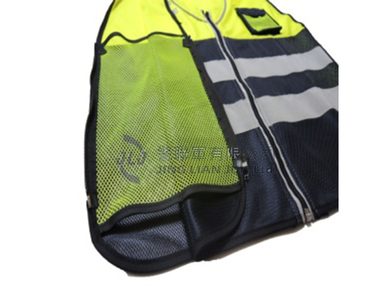 A010-4警用反光背心(黃布藍網)