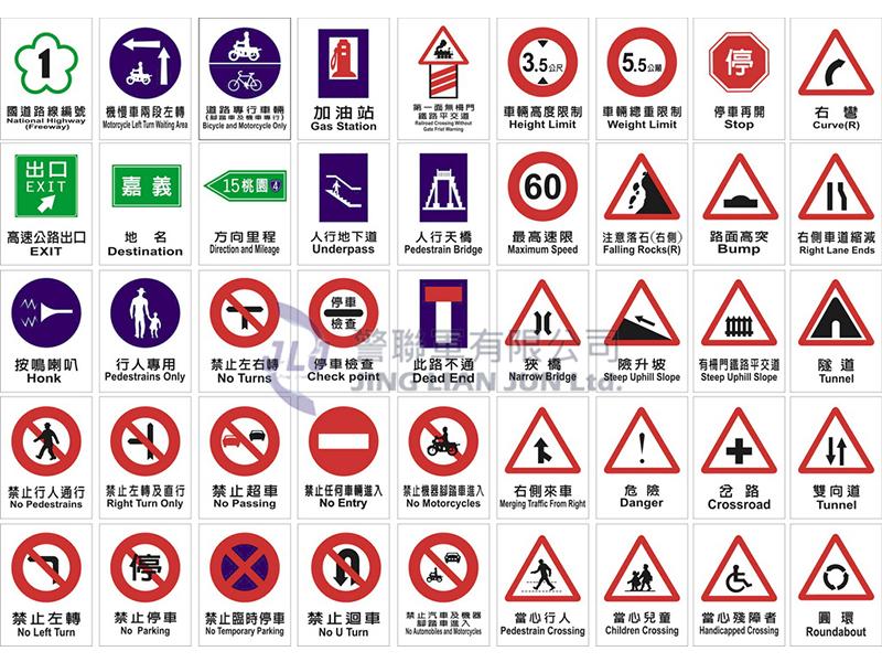 F010教學用交通標誌