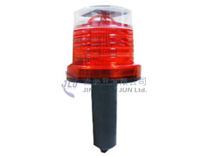 F002-2小型太陽能塑膠錐式LED警示燈