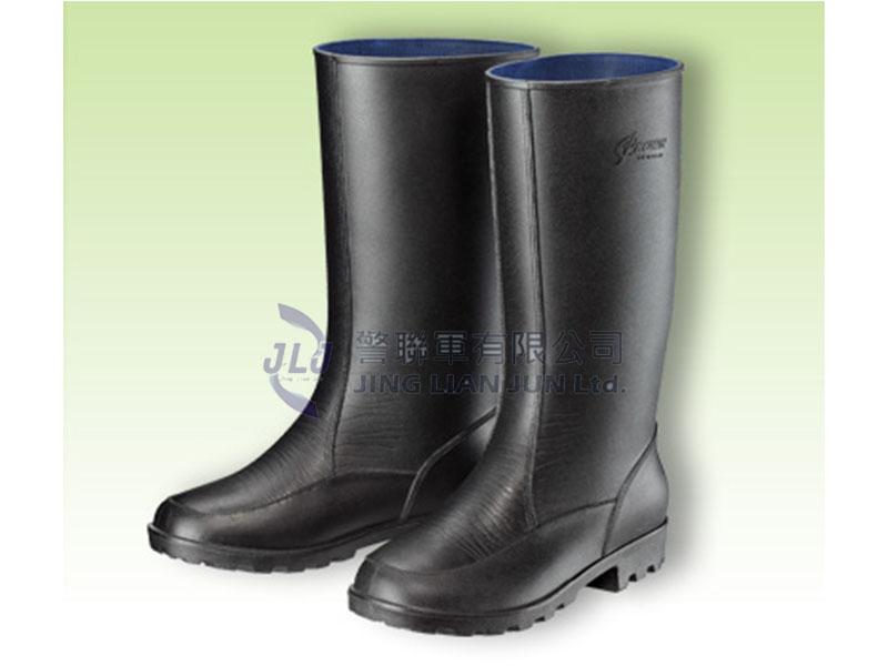 E004-3特長皮紋休閒男用雨鞋