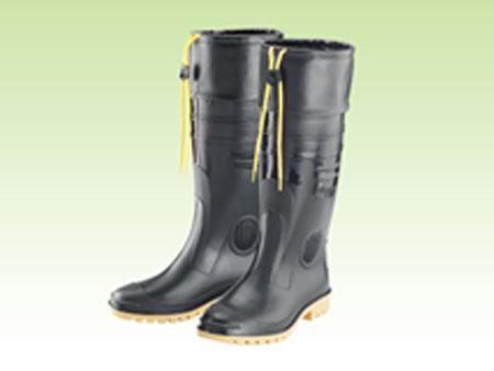 E004-1高級男用車皮加長雨鞋
